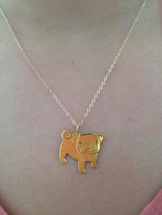 "PUG 18"" necklace silver or vermeil by AlanikaJewelCouture on Etsy, $420.00"