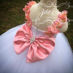 Vestido vestido de encaje gran arco vestido por ZulettCouture