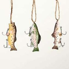 Carved Wooden Fish Ornament $7.49 each