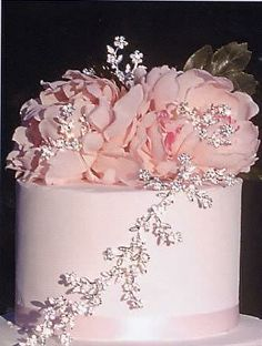 Bling for the bride, why not some for the wedding cake as well? Wedding Cake Jewelry is the latest trend to enhance the top of your wedding .