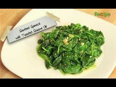 How to Make Sauteed Spinach with Sesame Oil - YouTube