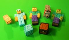 Inspired By Minecraft: Steve In Armor, Herobrine, Zombie & More Cake Topper…
