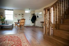 Antique Oak Flooring lovingly installed (www.timbernatural.com)