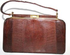 Vintage Snakeskin Handbag by EklecticXplosion on Etsy, $48.00