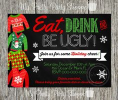 Christmas / Holiday Ugly Sweater Party by MyPrettyPartyShoppe