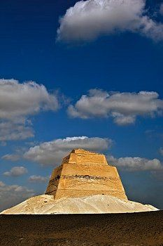 The Pyramid of Meidum The pyramid at Meidum is thought to have been originally built for Huni, the last pharaoh of the Third Dynasty and was continued by Sneferu. Saqqara  Egypt