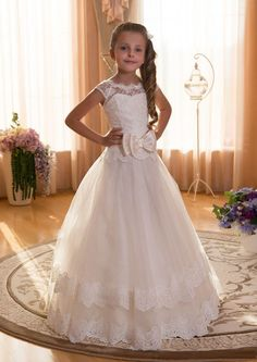 2016 Girl's First Communion Dresses Scoop Backless With