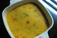 Red Lentil and Squash Soup (spinach and yoga) -- soothing, vata-pacifying (stress-relieving) Dal cum soup recipe.