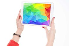#apple #art #colorful #colourful #device #gadget #hands #ipad #tablet