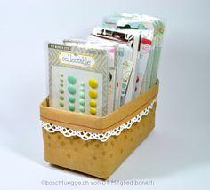 Utensilo aus Kraft Tex #baschtuegge.ch Facial Tissue, Decorative Boxes, Scrapbooking, Home Decor, Decoration Home, Room Decor, Scrapbook, Memory Books, Scrapbooks
