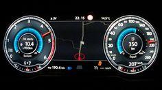 New VW Passat B8 2015 2,0 BiTDI - acceleration 0-210 km/h, digital dashb...