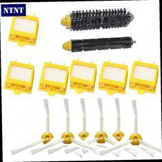 49.99$  Buy now - http://ali7q4.worldwells.pw/go.php?t=32644286122 - NTNT For iRobot Roomba 700 Series 760 770 780 790 Hepa Filters Bristle Brush Flexible Beater Brush 3-Armed Side Brush Pack Set 49.99$