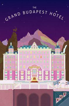 그랜드 부다페스트 호텔 _ The Grand Budapest Hotel Grand Budapest Hotel, H Design, Game Design, Name Card Design, Le Palais, Art Challenge, Illustrations And Posters, Film Posters, Cute Illustration