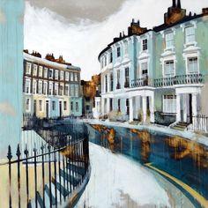 Chalcot Crescent III, Primrose Hill, London Acrylic on gesso board 96 × 96 cm