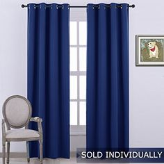 NICETOWN Blackout Curtain - (Navy Blue Color)-52 inch wid...