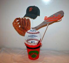 CUSTOM Baseball Centerpiece - Handmade - Baseball Party Ideas on Etsy, $19.50