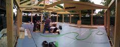 semana7    Acabando detalles, con carpinteros, paisajistas, electricistas, toldos...