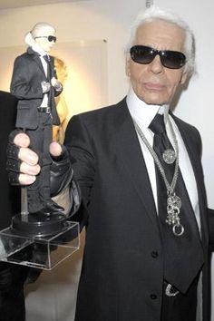 Karl Lagerfeld and Karl Lagerfeld Ken doll