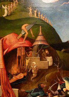 """The Last Judgement"" (detail). detail - The Last Judgment (Bosch triptych) - Hieronymus Bosch (circa 1450–1516"
