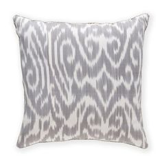 Madeline Weinrib Ikat Pillow Dove Luce