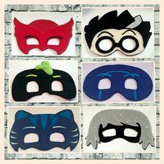 PJ Mask inspired Pretend Play Felt Masks, Owlette, Catboy, Gecko, Scientist, Luna Girl and Night Ninja by TamsTinyBlessings on Etsy