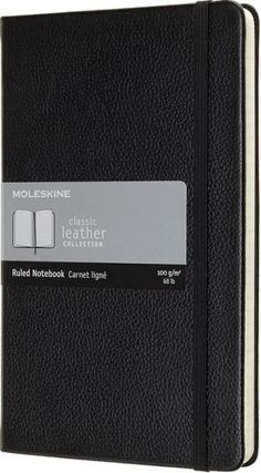 Premium leather and fine craftsmanship combine in the Moleskine Classic Leather Notebook. This notebook is a simply elegant space to note down thoughts, ideas and...