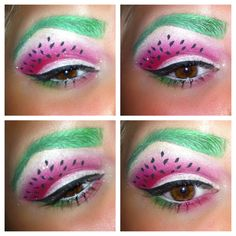 Watermelon food makeup