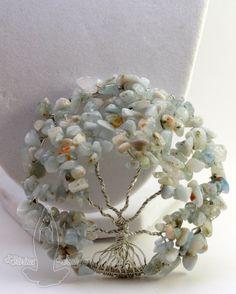 Aquamarine Tree of Life by DivinaDivaDesigns on Etsy, $40.00