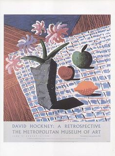 DAVID HOCKNEY poster print STILL LIFE WITH FLOWERS | eBay