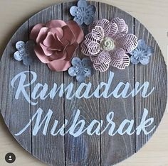 Ramazan Wishes, Ramadan Mubarak, Islamic Quotes, Hindi Quotes, Artificial Flowers, Decorative Plates, Lettering, Frame, Home Decor