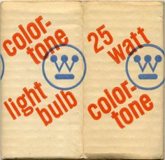 Westinghouse light-bulb packaging designed by Paul Rand, 1968
