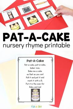 This Pat-A-Cake free printable is super easy to prep! It can be used in a variety of ways to help teach children a favorite nursery rhyme. Awesome for circle time or as an early literacy activity. Early Learning Activities, Rhyming Activities, Fun Activities For Toddlers, Nursery Rhymes Preschool, Nursery Rhyme Theme, Preschool Lesson Plans, Preschool Printables, Free Preschool, Rhyming Poems