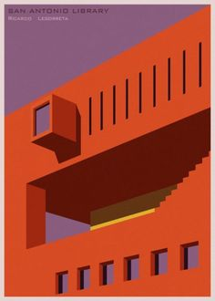 A minimalist poster featuring San Antonio #Library