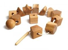 If these are large enough and without sharp edges, they could be introduced to quite small children. | EcoToy.de montessoriatoi