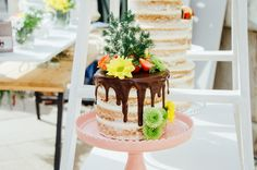 Tarta de boda. Naked cake de chocolate. Wedding cake. Foto: Estudionce Organización: Señor y señora de #bodassrysrade www.señoryseñorade.com