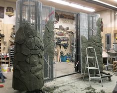 A stone fortress — Imagination Corporation Fake Stone Wall, Sculpture Art, Sculptures, Artificial Rocks, Decorative Plaster, Plaster Walls, Stone Carving, Art Design, Brick Wall