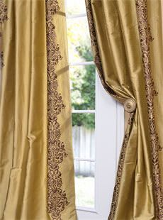 Rowena Gold Dust Silk Curtain. Get unbeatable discount up to 80% Off at Halfprice Drapes using Coupon and Promo Codes.