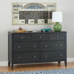 Bayside 7-Drawer Dresser (Denim)    The Land of Nod