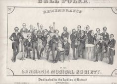 Bell Polka  This Sheet Music Showcases the Musicians of the Germanic Society, which became the Detroit Symphony