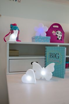 Chat lumineux micro à poser LED deco