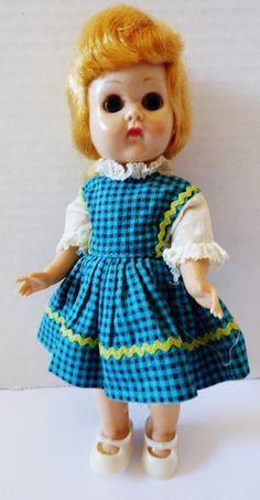 "VTG 1960's Vogue Ginny Doll Blonde hair blue eyes bandable legs turns head 7.5"" | eBay"