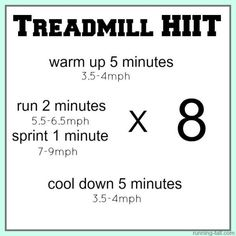 35 minute treadmill HIIT workout by malinda