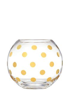 everything's better with a smattering of gold polka dots. It may as well be our life's mantra, but it particularly applies to this rosebowl (equally as lovely with or without blooms)