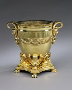 A George III gilt bronze wine cooler by Rundell, Bridge & Rundell to a design by Jean-Jacques Boileau (4403731)