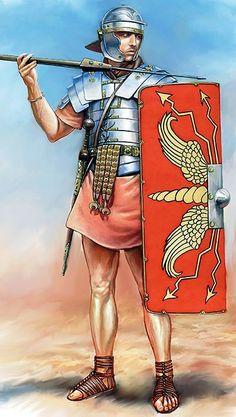 Roman legionary Ancient Egyptian Art, Ancient Aliens, Ancient Rome, Ancient Greece, Ancient History, Anglo Saxon History, European History, American History, Roman Legion