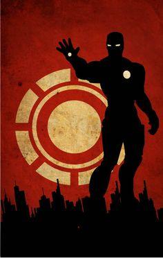 Iron man flat wallpaper
