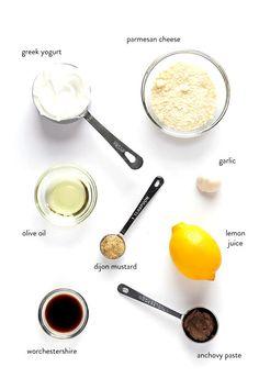 Greek Yogurt Salad Dressing, Yogurt Salad Dressings, Salad Dressing Recipes, Recipe For Ceasar Salad Dressing, Avacado Dressing, Salad Recipes, Ceasar Salat, Sauce Cesar, Make Greek Yogurt