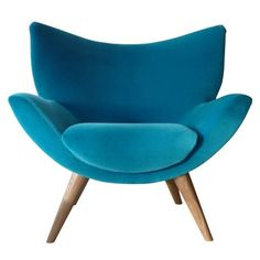 Varese: Turquoise retro chair. Kinda mid-century modern. Super. >>>> Scopri le Offerte!