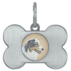 #Australian Shepherd Pet Name Tag - #pettag #pettags #dogtag #dogtags #puppy #dog #dogs #pet #pets #cute #doggie