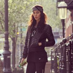 Black & Black. Adrianne Ho. Model. Urban. Nike. Gorgeous. Bandana. Fashion. Woman. Bad Bitches Drink Green Juice!